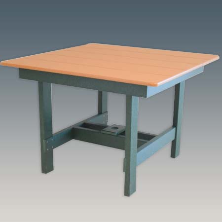 "42"" Square outdoor dining table"