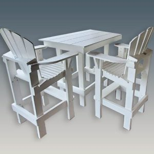 Outdoor short dining table counter height