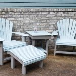Blue Sky & Light Gray Adirondack Chair