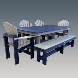 Narrow six foot outdoor Table