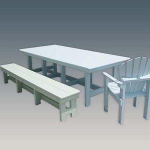 8 foot outdoor HDPE dining table