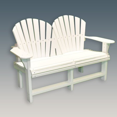 4 foot Adirondack Back Garden Bench