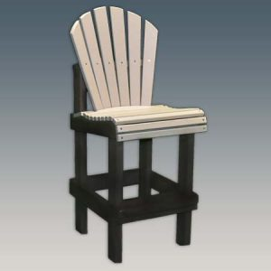 Tall armless outdoor bar chair
