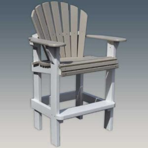 Wide Seat Outdoor Bar Chair
