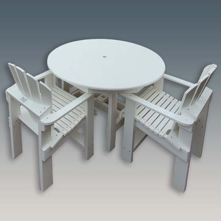 Round Outdoor Dining Table that is Built To Last